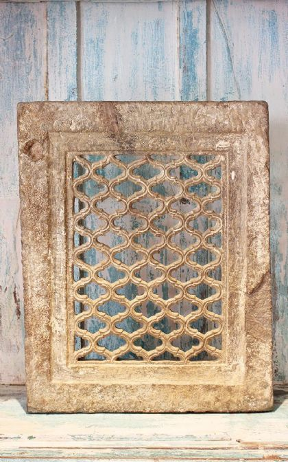 Mid 19th Century Sandstone Jali Arch with Mughal Fretwork Design - <b>sold<b>